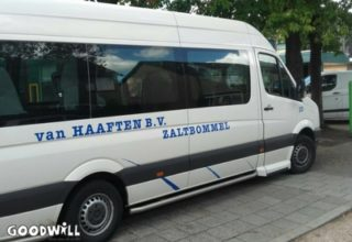Foto van de taxibus van Vervoersbedrijf Van Haaften