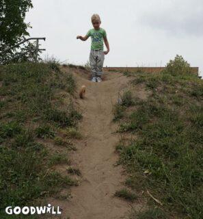 Houten ring rolt naar beneden - Goodwill_nl
