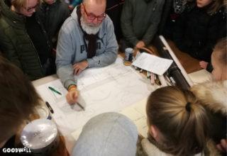 Peter Doornenbal ontwerpt samen met kinderen een speelterrein