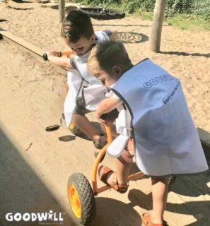 De nieuwe fiets van Goodwill voor Youké